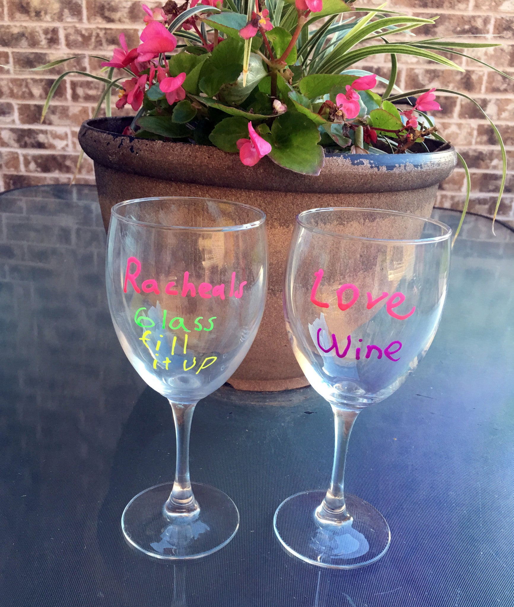 Luminous Wine  Glass Markers 4 pack Replace Wine Charms use at Parties.