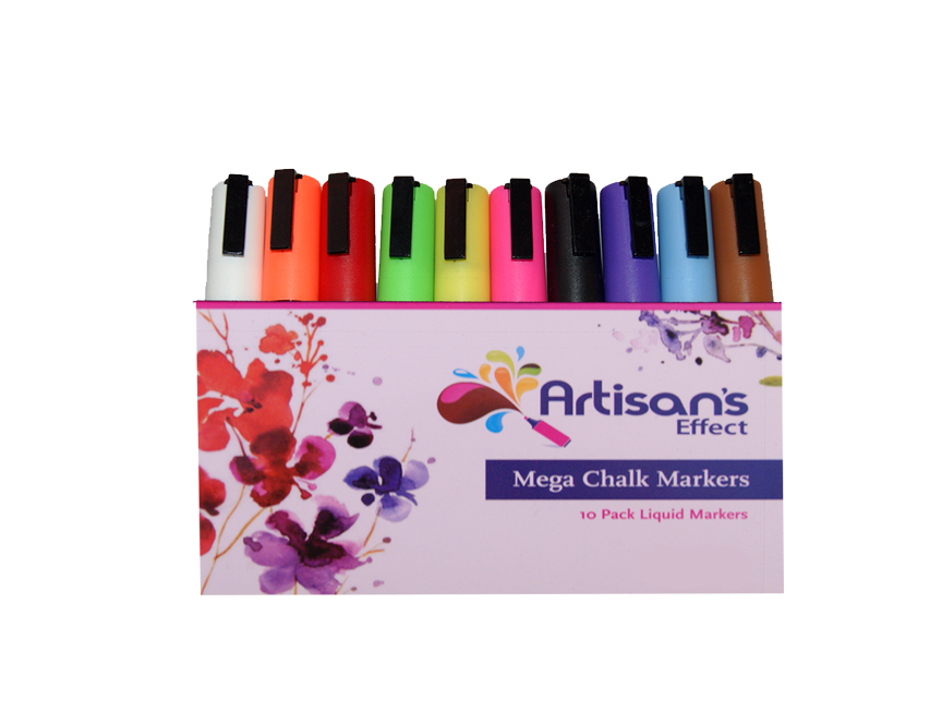 Artisan's Effect® -  Chalk & Craft Markers 10 Pack Double Amount of ink