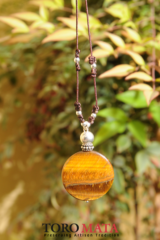 Peruvian Tiger's Eye Medallion