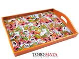 APP46FL - Flamingos Serving Tray