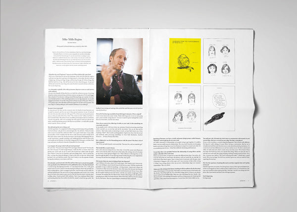 Mike Mills drawings and interview in Afterzine Issue 2