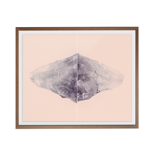 Amethyst Rose Diptych photographic print