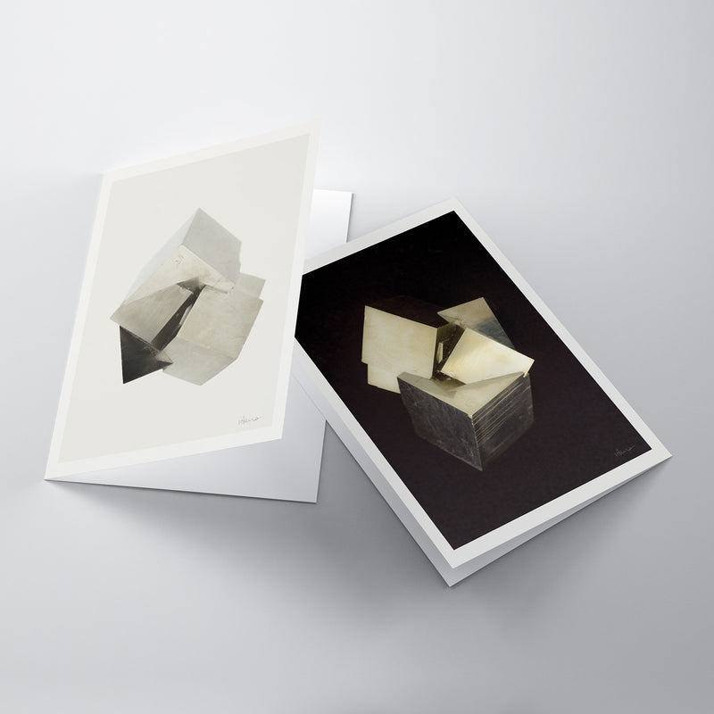 Boxed Set of 6 Pyrite Notecards
