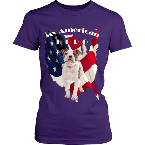 Women's My American Bulldog Hero T-Shirt - Tee Society - 1