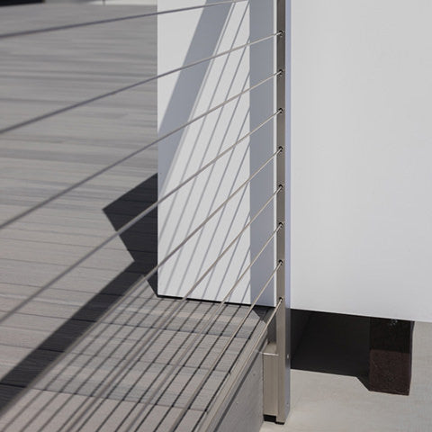 installed posts with an ultr-slim profile