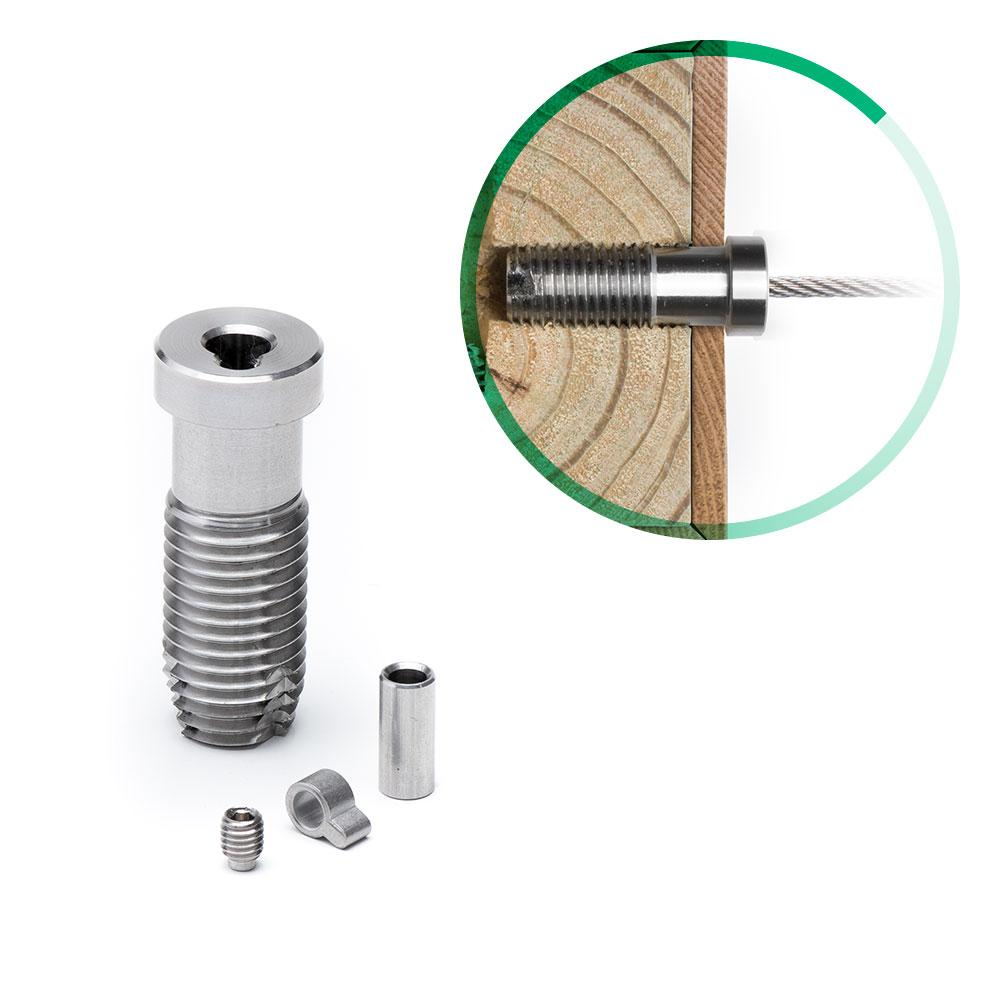 Cable Rail Tensioner Kit for Wood Posts