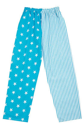 Pj-s Turquoise Star Stripe Pyjama Bottoms