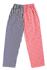 Pj-s Red Check Navy Stripe Pyjama Bottoms