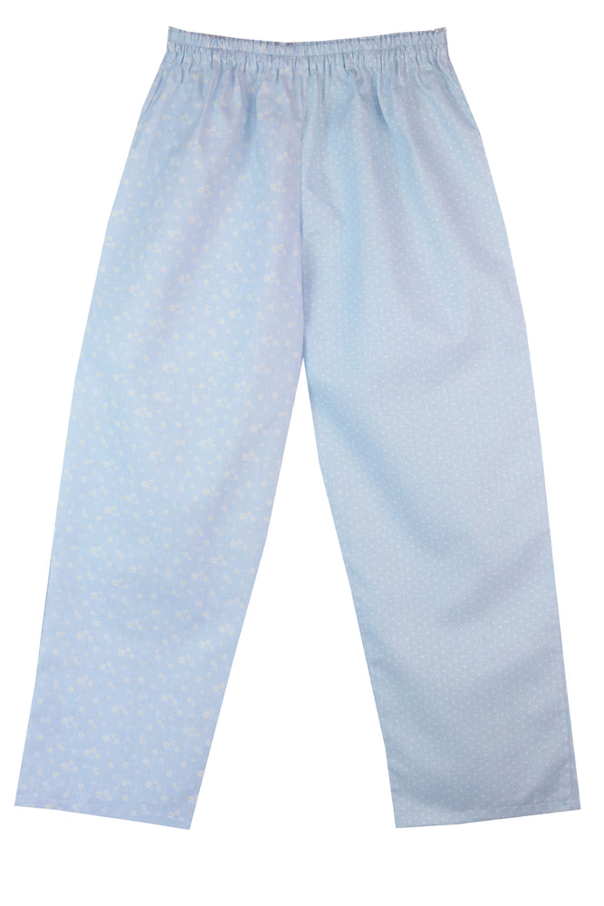 Pale Blue Daisy Spot Pyjama Bottoms
