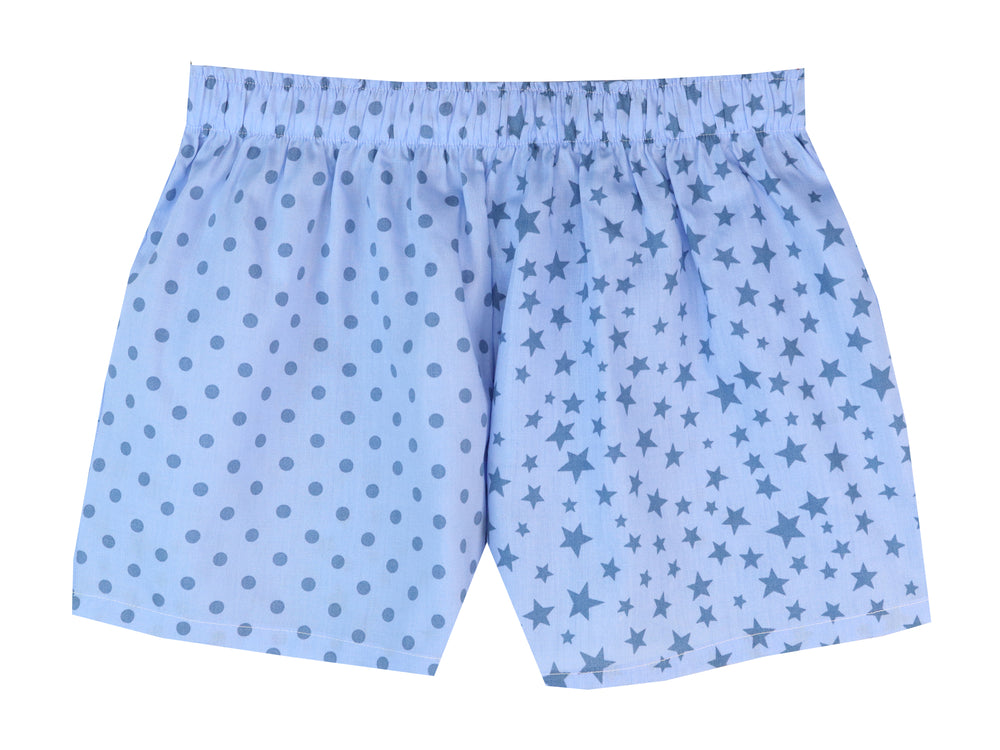 Girls Blue Star/spot Shorts