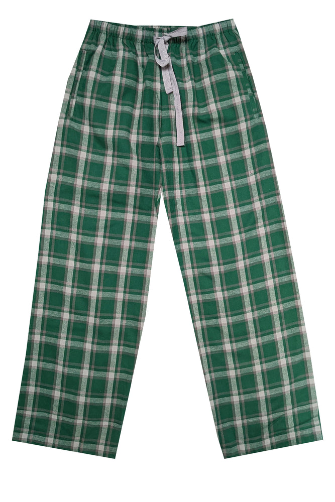 Brushed Green/grey Pyjama Bottoms