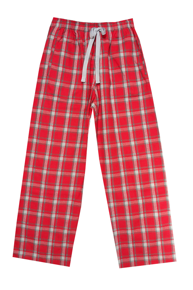 Brushed Red/grey Pyjama Bottoms