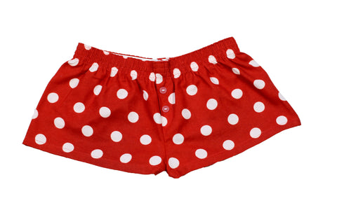 Pj-s Girls Red Spot Shorts