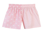 Girls Pale Pink Star / Pale Pink Spot Shorts