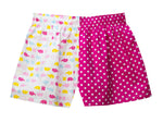 Girls Bright Pink Spot/Multi Elephants Shorts