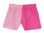 Girls New Pink Spot Stripe Shorts