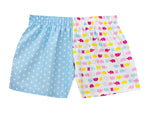 Girls Multi Elephants Blue Star Shorts