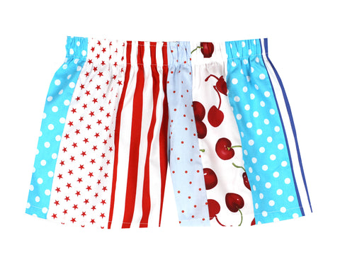 Pj-s Red and Blue Pick and Mix Shorts