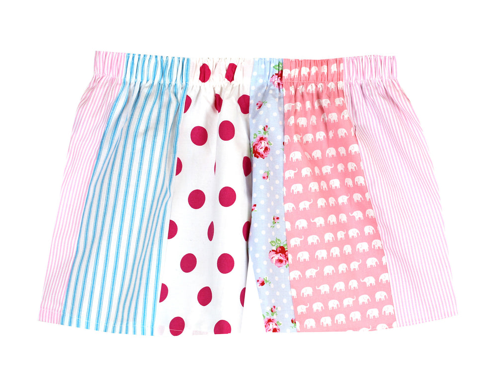 Pj-s Pink/Blue Pick and Mix Shorts