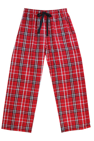Brushed Red Check Pyjama Bottoms