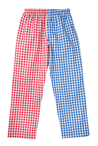 Red/Royal Gingham Pyjamas Bottoms