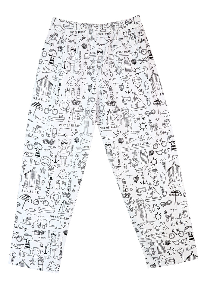 Colour Your Own Pyjamas - Seaside