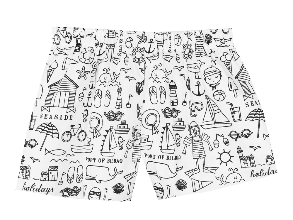Colour Your Own Shorts - Seaside