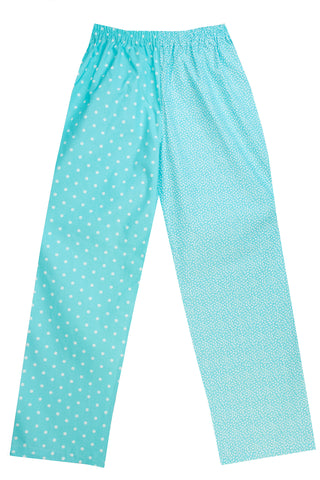 Turquoise Spot/Flower Pyjama Bottoms