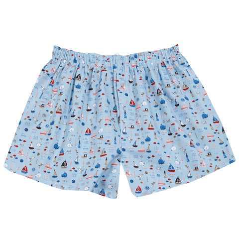 Pj-s Boxers Blue Sail Boats