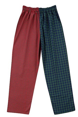 Pj-s Red/blue/green check Pyjama Bottoms