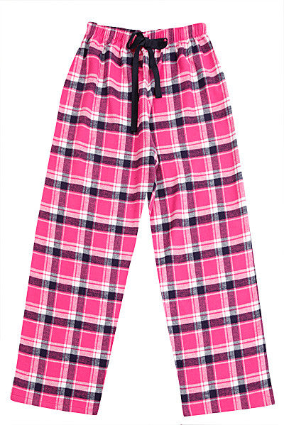 Pj-s Brushed Pink/Navy Pyjama Bottoms