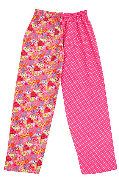 Pink Hearts Pyjama Bottoms