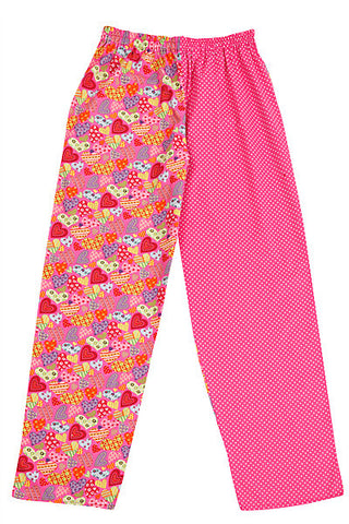 Pj-s Pink Hearts Pyjama Bottoms