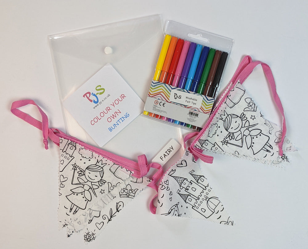 Colour Your Own Bunting - Fairy