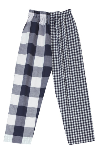 Pj-s Navy Check Pyjama Bottoms
