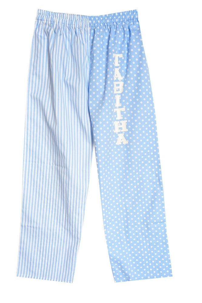 Pale Blue Spot/Stripe Pyjamas Bottoms