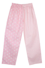Pale Pink Stars Dots Pyjama Bottoms