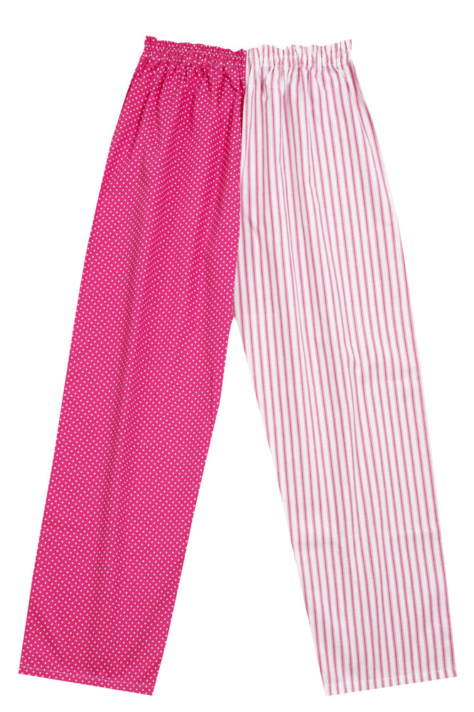Pj-s Pink Spot Stripe Pyjama Bottoms