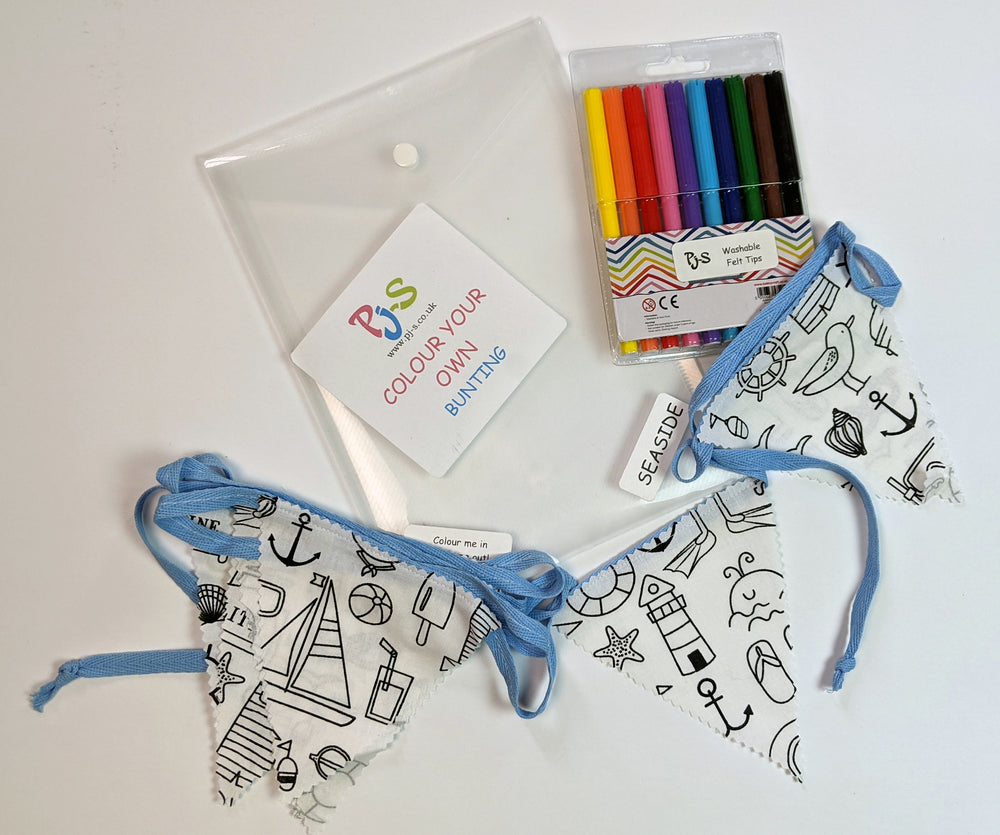Colour Your Own Bunting - Seaside