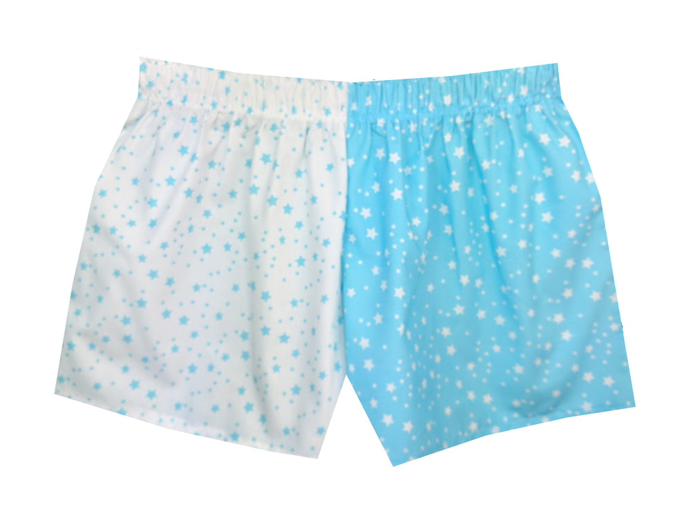 Girls Blue Turquoise Stars Shorts