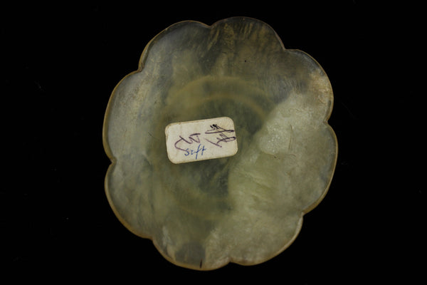 Yellow Jade Flower Snuff Dish