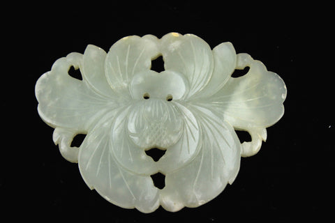 Celadon Jade Mirror Symmetry Flower