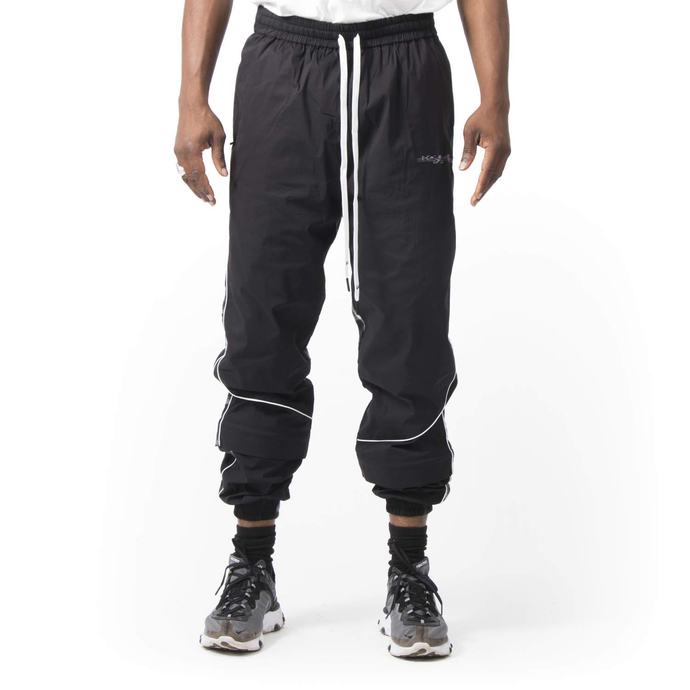Nylon Split Check Tracksuit Bottom