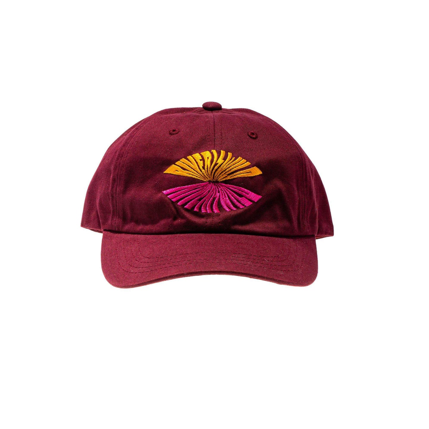 Wave Logo Hat Burgundy