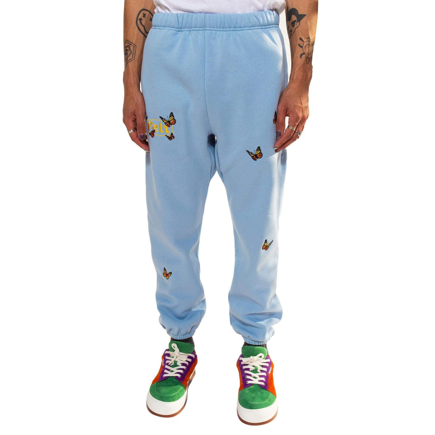 Butterfly Garden Sweatpants (Blue)