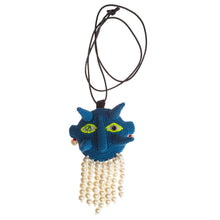 Blue Spiky Walter Necklace