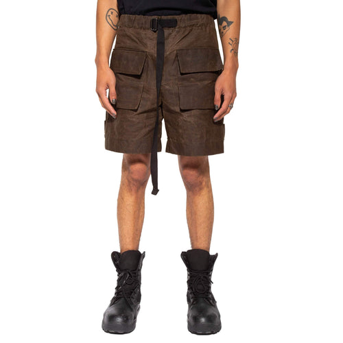 Waxed Cotton Canvas Shorts