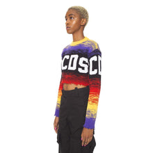 CROP MULTICOLOR LOGO SWEATER