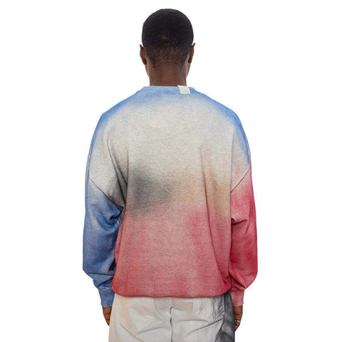 Blue & Red Tie Dye Sweatshirt