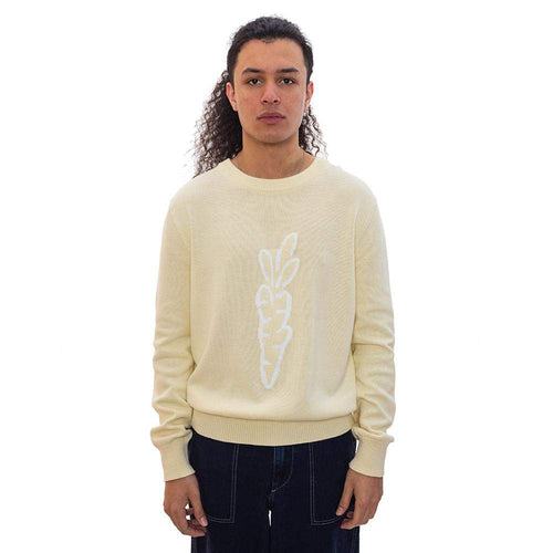 Carrot Knit Sweater Ivory